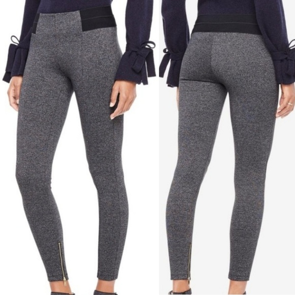 great discount sale good enjoy lowest price Ann Taylor Marled Grey Ankle Zip Thick Leggings